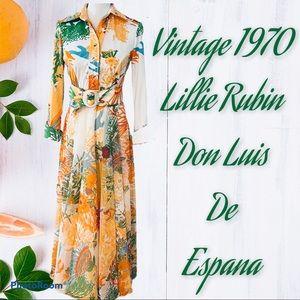 Lillie Rubin for Don Luis de Espana 1970 Dress